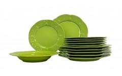 Набор столовый Нарцисс 18  предметов Нарцисс нежно зелёный FLY18YS14277