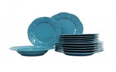 Набор столовый Нарцисс 18 предметов Нарцисс голубой FLY18YS14276