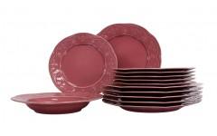 Набор столовый Нарцисс 18  предметов Нарцисс розовый FLY18YS142741