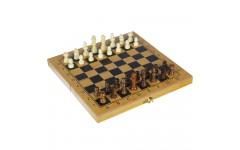 Набор игр 3 в 1 (шашки, шахматы, нарды), МДФ, 30х30см, 7911
