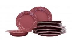 Набор столовый Афины  18 предметов розовый ATH18YS142741