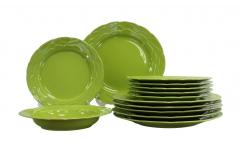 Набор столовый  Афины 18 предметов зелёный ATH18YS14277