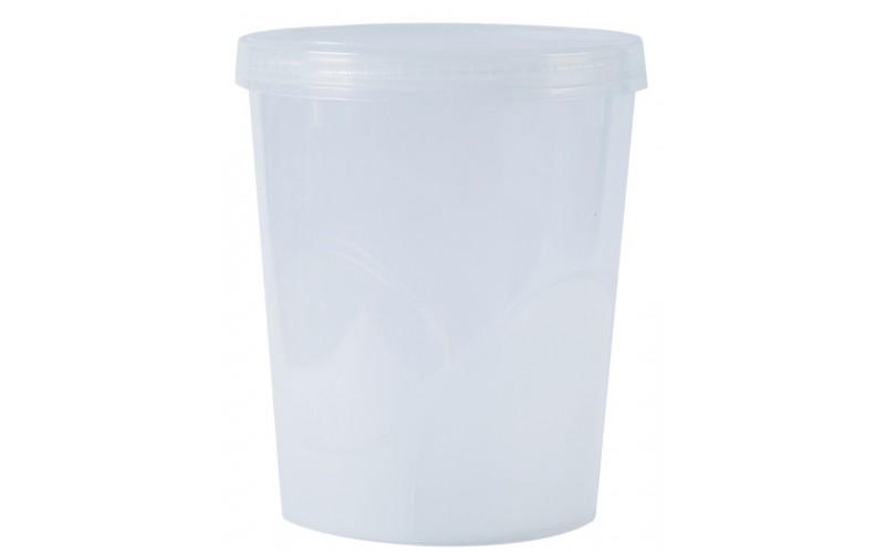 Контейнер пищевой круглый 3,5л (Прозрачный) (20)
