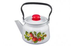 Чайник 2,3 л декор белый с пласт. кнопкой С2714.3 (4)